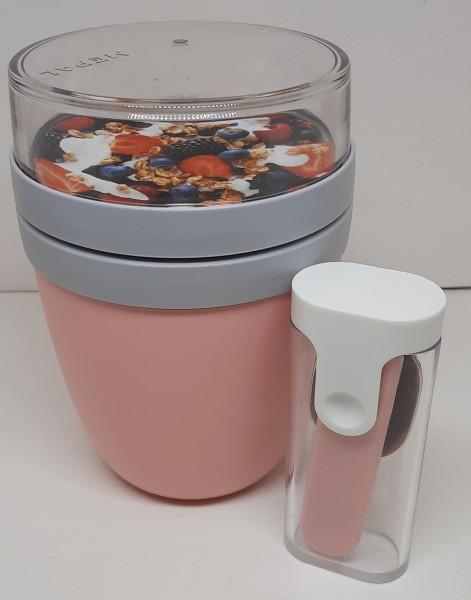 Lunchpot incl.faltbarem Löffel nordic pink