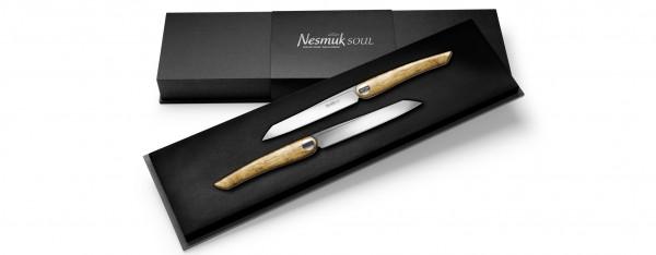 Soul Steakmesser 2 er Set Olivenholz